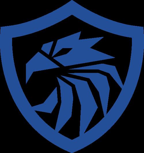 蓝色鸟盾牌矢量logo元素