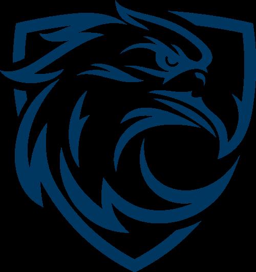 蓝色鹰矢量logo