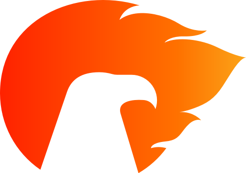 橙色鸟矢量logo元素