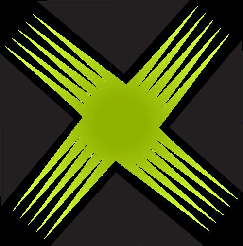 黑色绿色字母X矢量logo