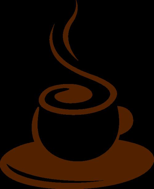 棕色咖啡矢量logo元素