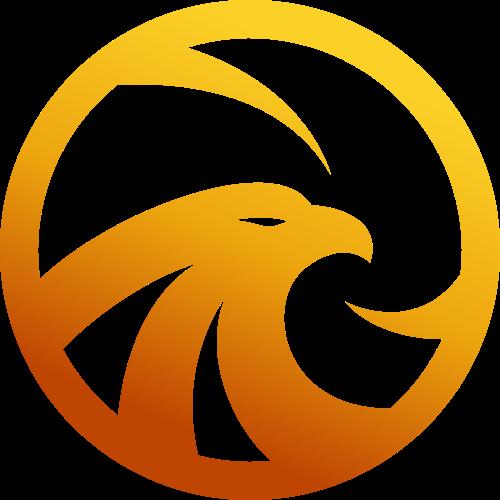 金色鹰矢量logo元素