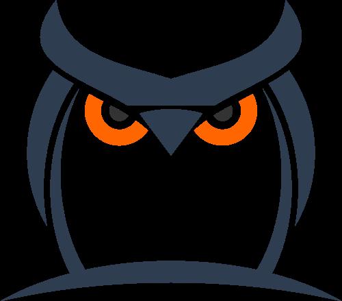 黑色猫头鹰矢量logo图标