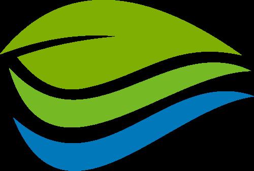 蓝色绿色叶子矢量logo矢量logo