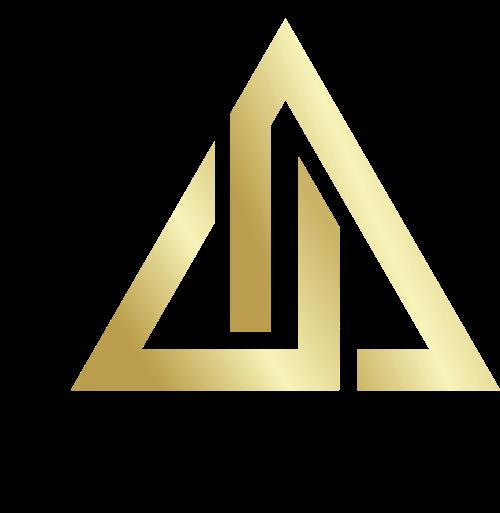 金色三角矢量logo