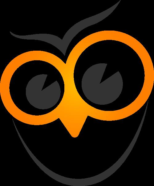 黄色大眼睛鸟矢量logo元素