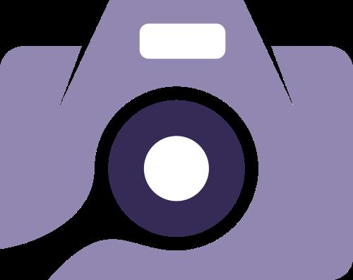 紫色相机矢量logo图标