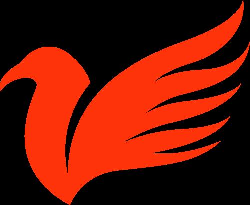 红色鸟矢量logo