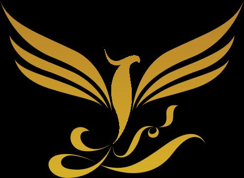 金色凤凰矢量logo元素