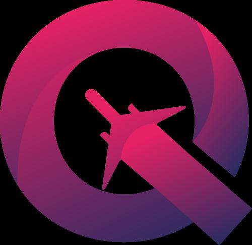 粉色字母Q飞机矢量logo元素