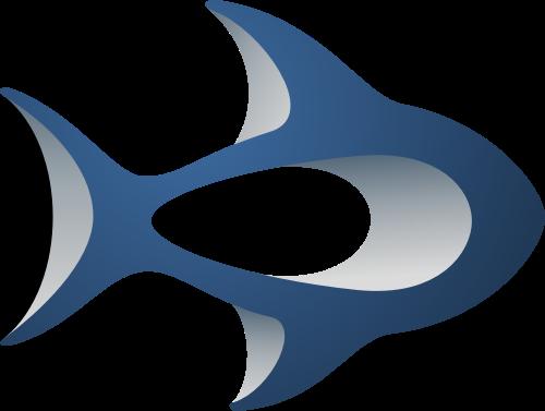 蓝色鱼矢量logo元素