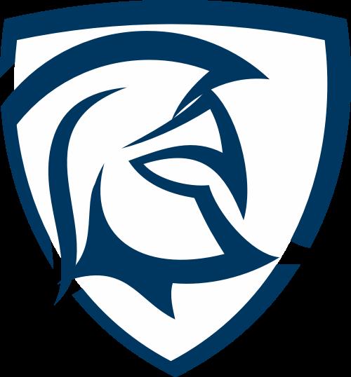 蓝色勇士盾牌矢量logo