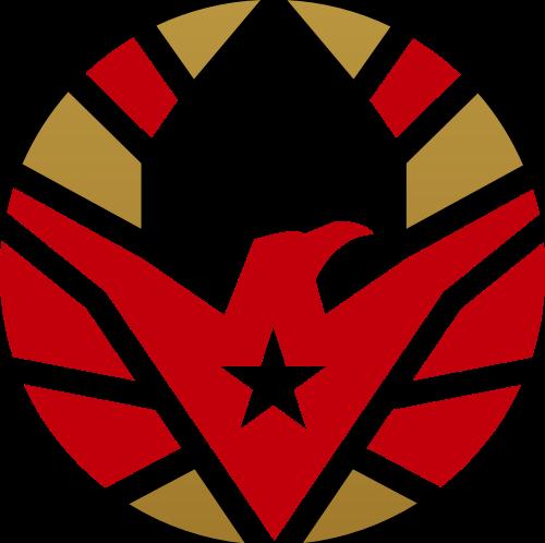 金色红色鹰矢量logo元素