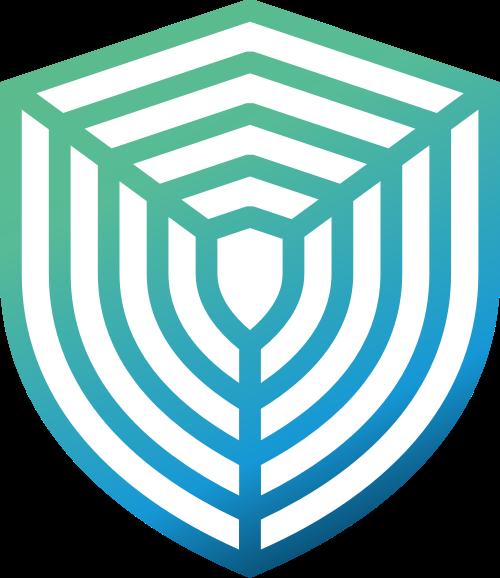 蓝绿色网状矢量logo