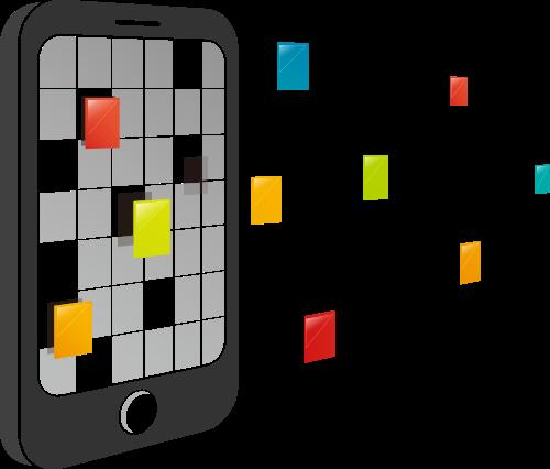 彩色手机矢量logo图标