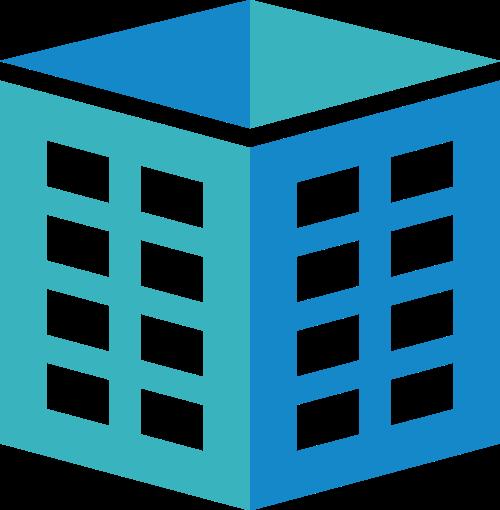 蓝色绿色盒子立体矢量logo
