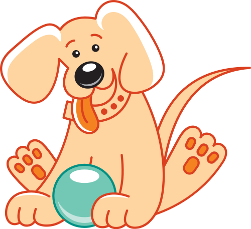 橙色狗狗矢量logo元素矢量logo