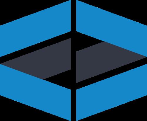 蓝色投资矢量logo元素