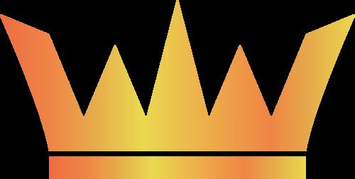 黄色皇冠矢量logo