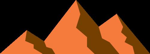 橙色山矢量logo元素
