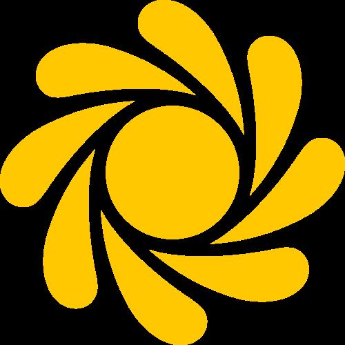 黄色太阳矢量logo