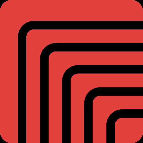 红色条纹矢量logo