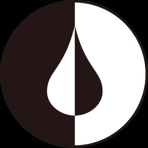 黑白水滴logo图标