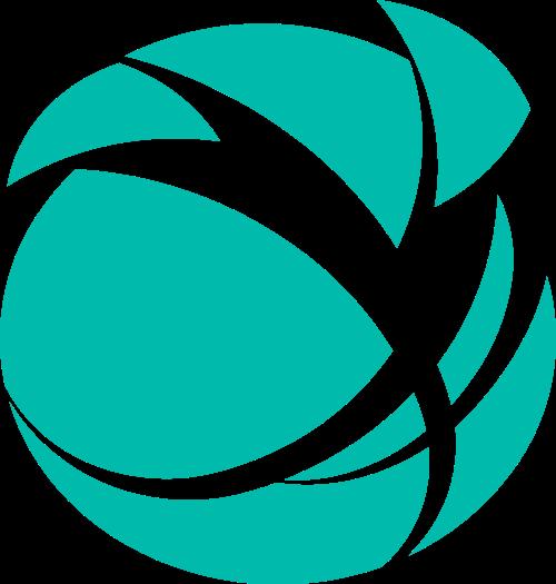 绿色球体矢量logo图标