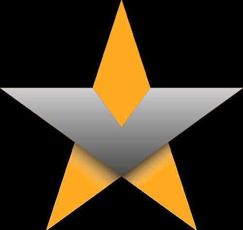 黄色五角星矢量logo元素