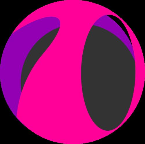 粉色圆形抽象广告矢量logo图标