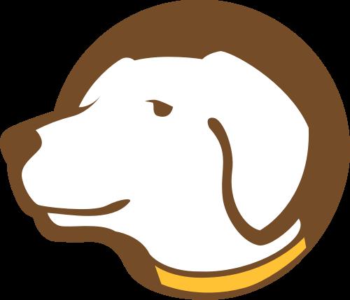 棕色狗矢量logo元素矢量logo