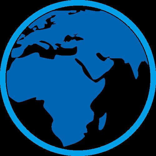 蓝色地球矢量logo元素