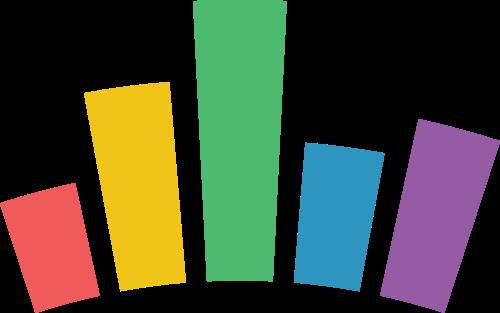 彩色长条矢量logo元素
