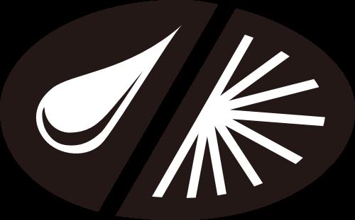 黑色椭圆水滴矢量logo