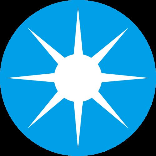 蓝色圆形太阳矢量logo