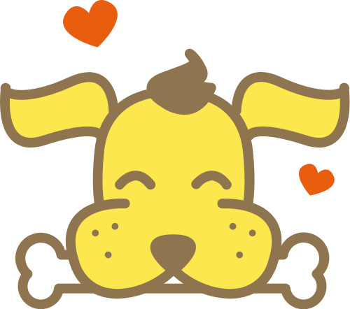 黄色狗矢量logo元素
