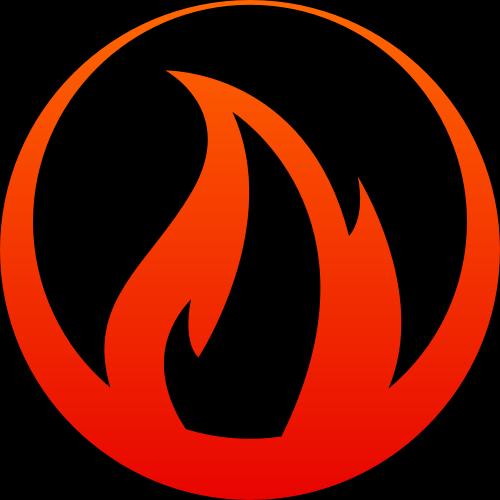 红色圆形火矢量logo元素