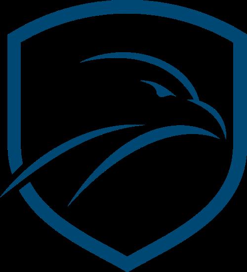 蓝色盾牌鹰矢量logo