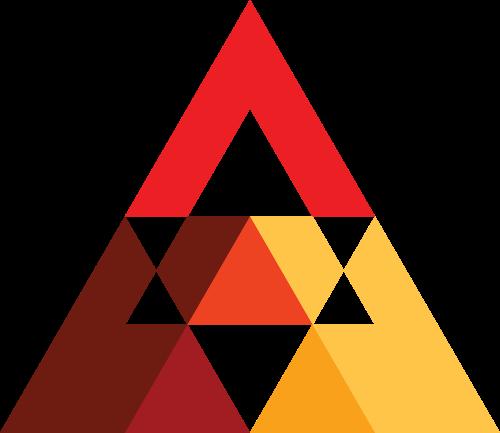 彩色三角矢量logo元素