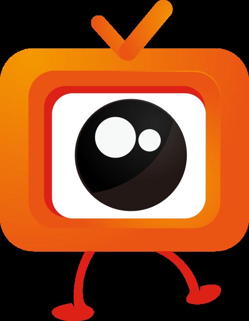 橙色电视矢量logo元素