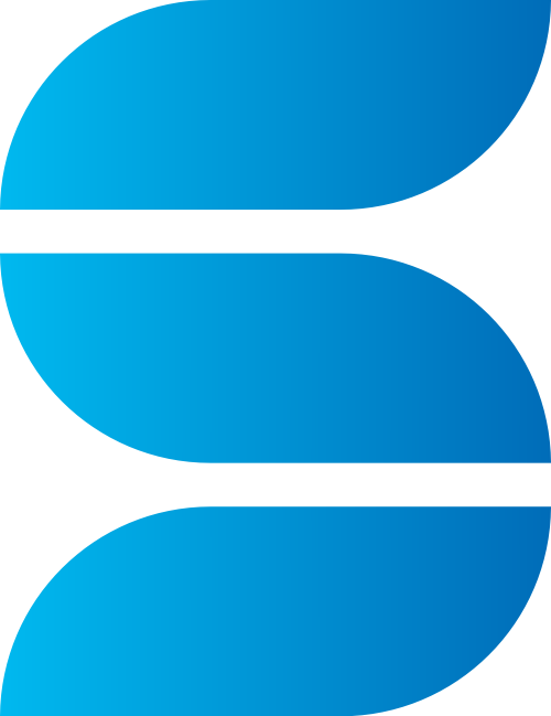 蓝色字母S矢量logo