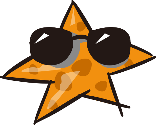 黄色眼镜星星矢量logo图标