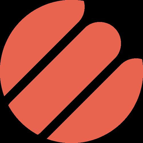 红色圆形矢量logo图标