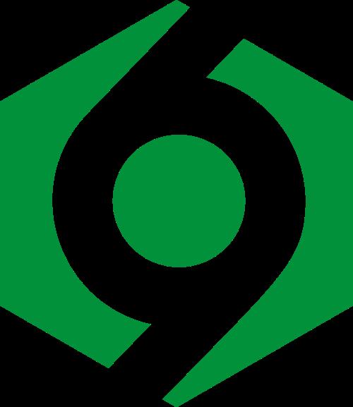 绿色六边形矢量logo元素