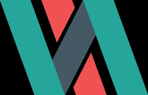 彩色商务贸易字母N矢量logo