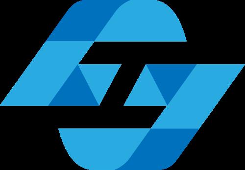 蓝色金融投资矢量logo元素
