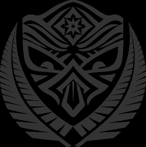 黑色面具矢量logo