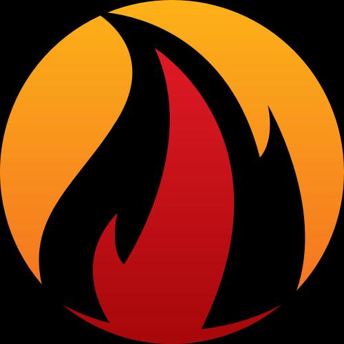 彩色火矢量logo元素