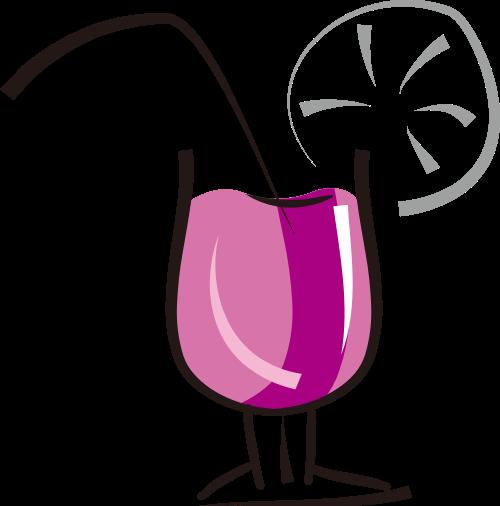 紫色杯子果汁矢量logo元素