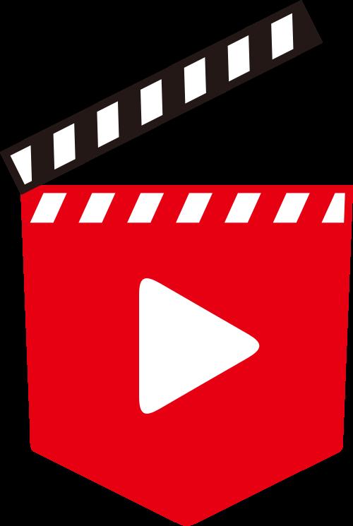 红色视频标志矢量logo